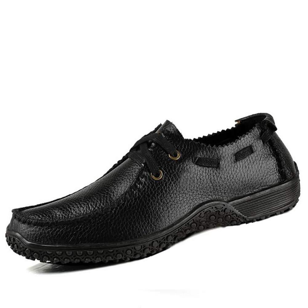 Qzny Neue Leder Herren Lederschuhe Lederschuhe Lederschuhe Mode Geschäft Kleid Herren Lederschuhe Casual Herrenschuhe (Farbe : Ein, Größe : 39) f8c90a