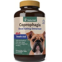 NaturVet – Coprophagia Stool Eating Deterrent Plus Breath Aid   Deters Dogs from Consuming Stool   Enhanced with Breath…