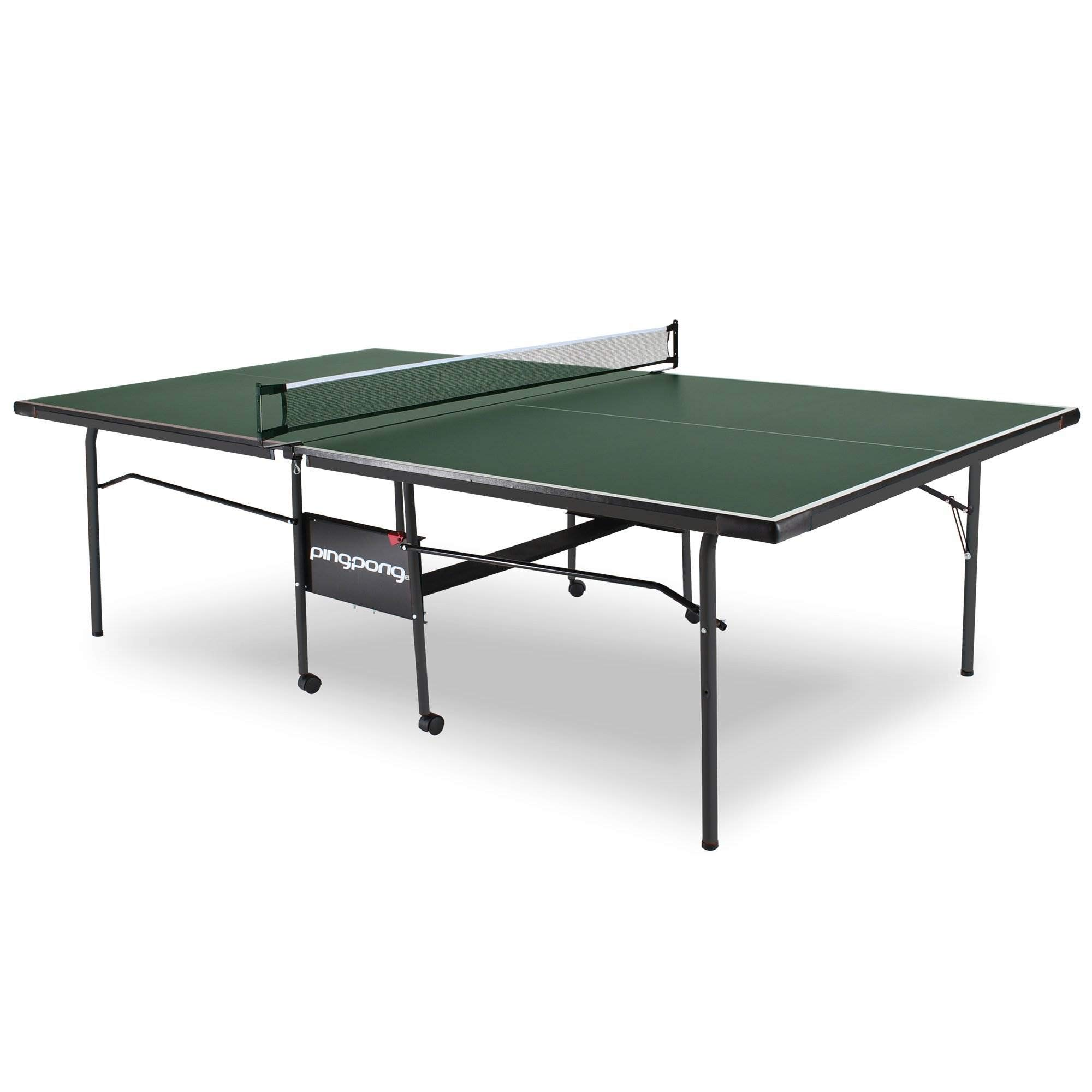 Ping Pong Fury Table Foldable Regulation Size Tennis Table with Caster Wheels by ping pong