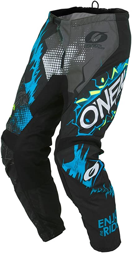 Motocross Off-Road Dirt Bike Jersey /& Pant MX Riding Gear Combo Set ONeal 2019 Element Villain Mens Black /& White Large//32W