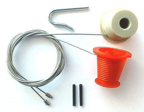 Garage Door Repair Kit Includes Cones And Cables Nut Type