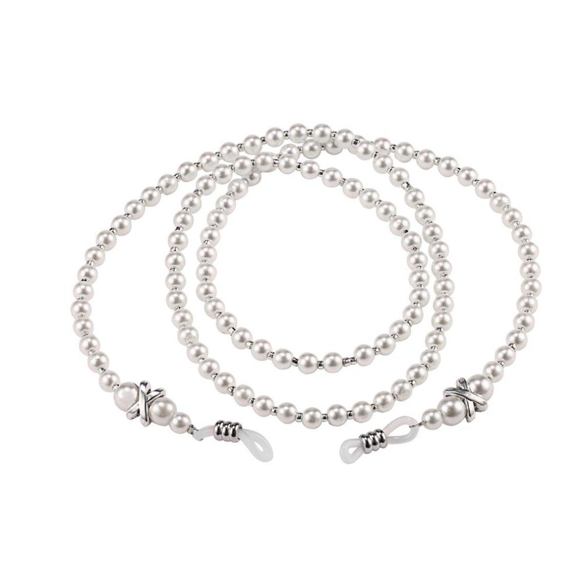 80cm Fashion Imitation Pearl Eyeglass Chains Glasses Necklace Chain Cord Holder ECYC 12295