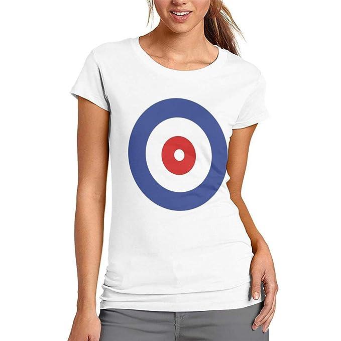 d66dc15b93 Amazon.com: DJIEZI Curling Target Women Summer Tshirts Short Sleeve ...