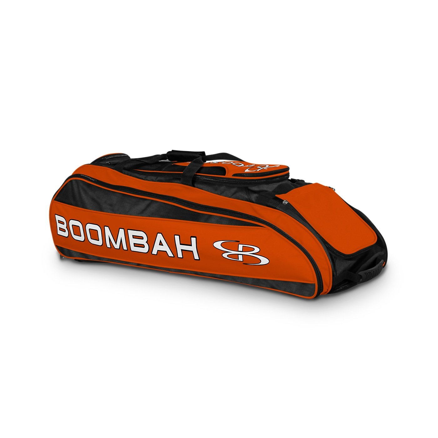 Boombah Beast Baseball / Softball Bat Bag - 40'' x 14'' x 13'' - Black/Orange - Holds 8 Bats, Glove & Shoe Compartments by Boombah (Image #1)