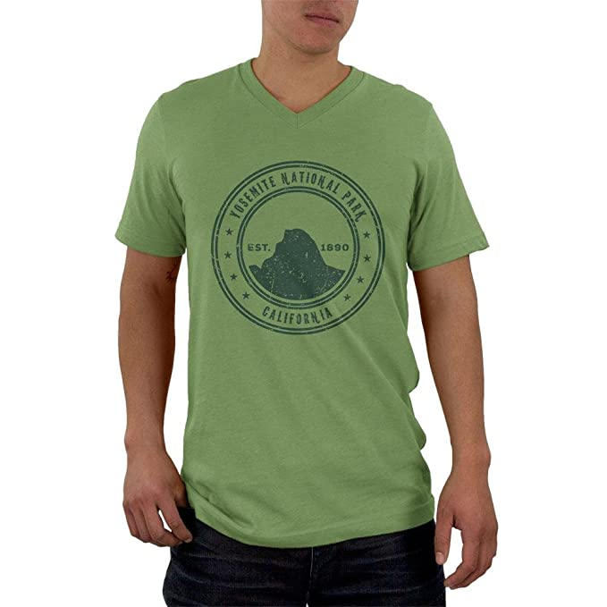34bac0569 Amazon.com: Yosemite National Park Vintage Mens V-Neck T Shirt: Clothing