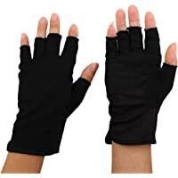uxcell Women Ladies Polyester Breathable Half Finger Mittens, Summer Outdoor Sun Resistant Gloves Pair