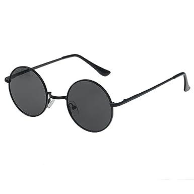 f6ccee3506e4f simvey Retro Round Polarized Sunglasses Mirror Lens Classic Vintage John  Lennon Style Circle Metal Frame UV400 (black)  Amazon.co.uk  Clothing