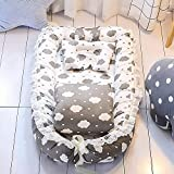 Ukeler Baby Nest, Portable Super Soft and Breathable Newborn Infant Bassinet Nest for Cosleeping
