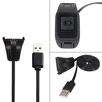 Galopar Reemplaza el cable de carga USB para TomTom Spark Cargador de cable Cardio Cargador de