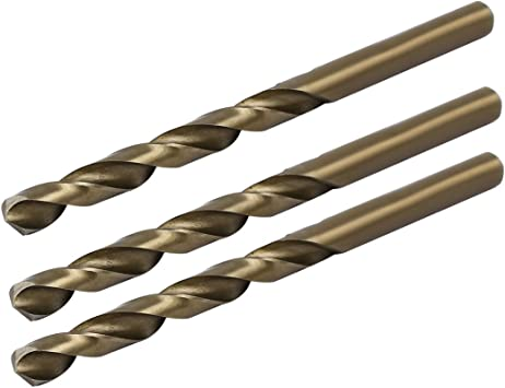 High-Speed Steel 10pcs for Drilling Soft Metal Cobalt Drill Bits Straight Shank Cobalt Spiral Drill Bit