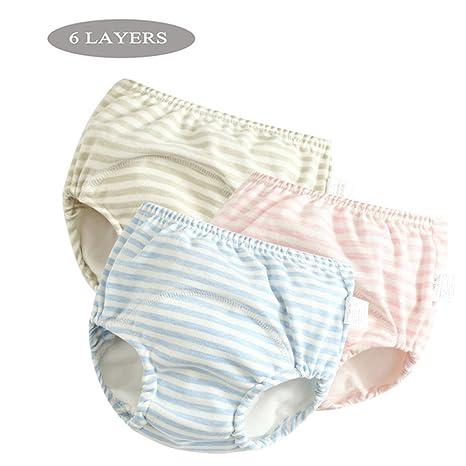 Pantalones de entrenamiento de algodón Ropa interior Niños niñas impermeables, Ropa de bebé pañales de