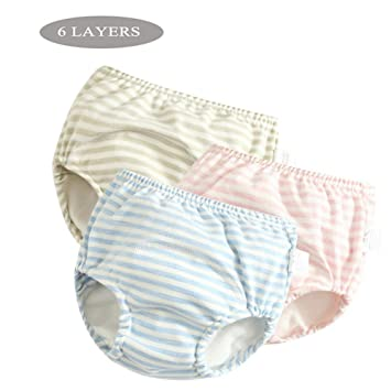 Cotton Reusable Baby Diapers Waterproof Cloth Changing Nappy Panties Underwear