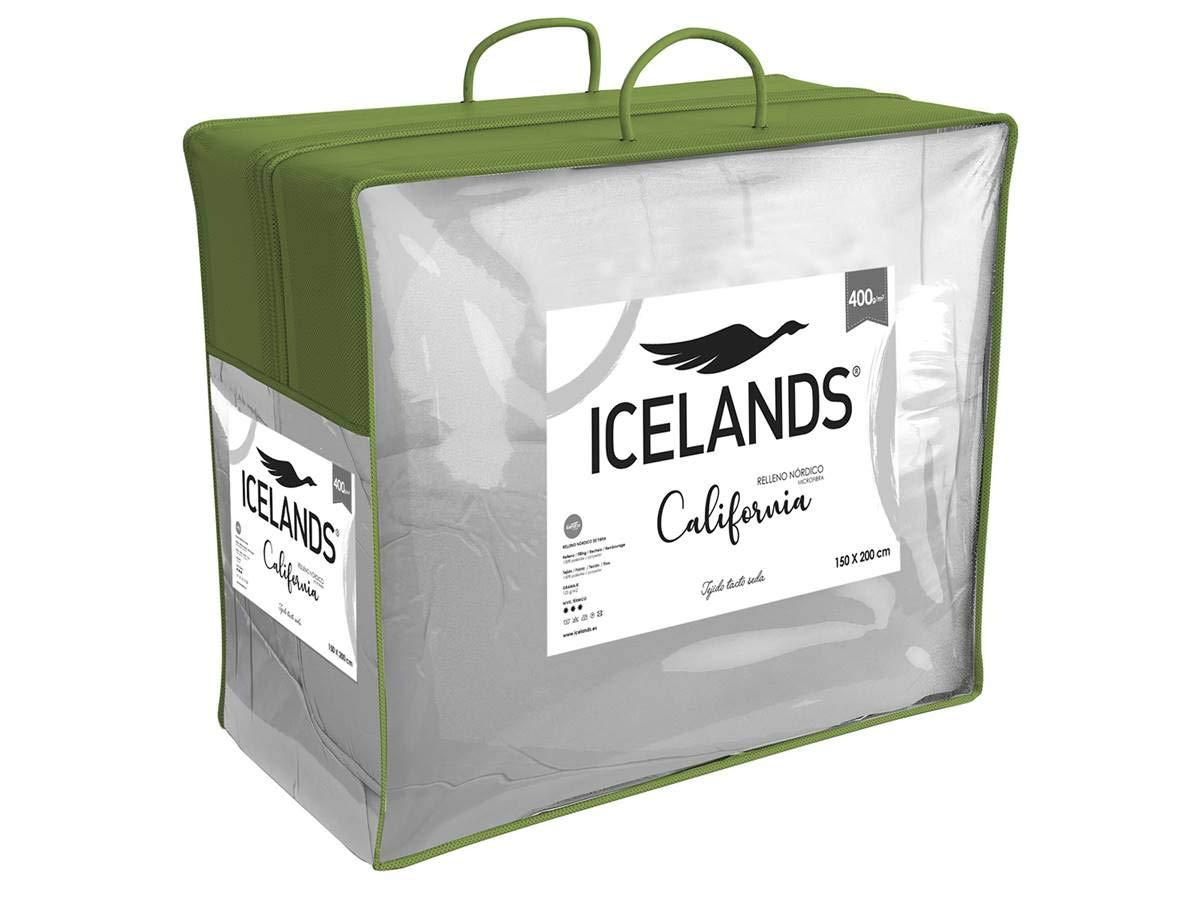 150x220 cm ICELANDS Relleno n/órdico California Plus 375 Duo Cama 90