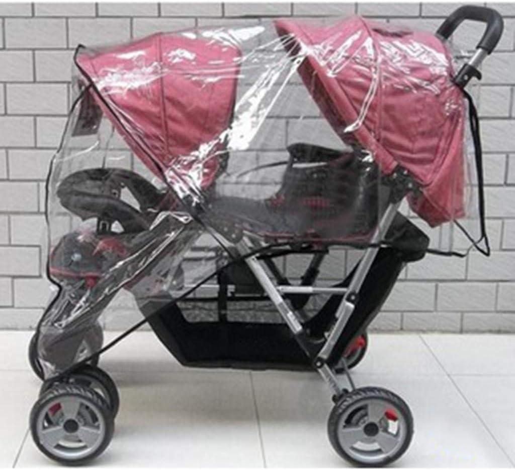 Rain Cover for Baby Pram Iuhan Universal Baby Stroller Raincover Buggy Pushchair Stroller Pram Transparent Rain Cover Waterproof Umbrella Stroller Wind Dust Shield Cover for Strollers
