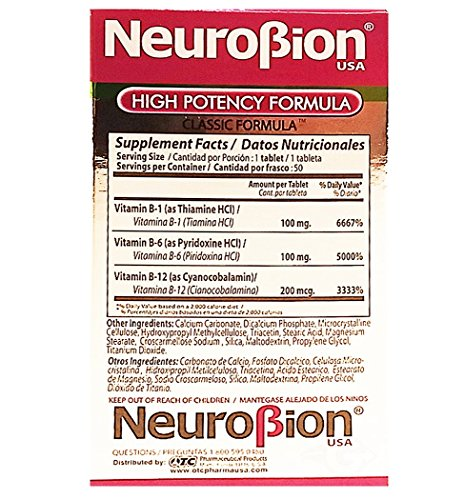 Amazon.com: OTC Neurobion Dietary Supplement 50 units - Suplemento Multivitaminico (Pack of 6): Health & Personal Care