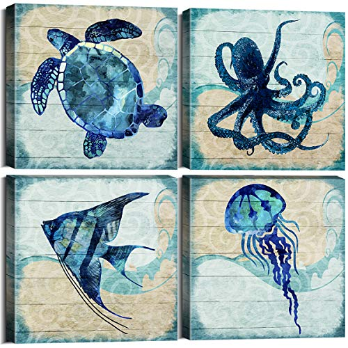 Ocean Life Theme Bathroom Decor - Cool Fish Wall Decor