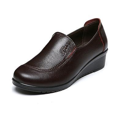 Amazon | 店舗]シニアシューズ レディース パンプス 婦人靴 モカシン ヒール4センチ 2色 21.5-26.5CM 小さいサイズから 大きいサイズまで 介護シューズ 軽量 歩きやすい ...