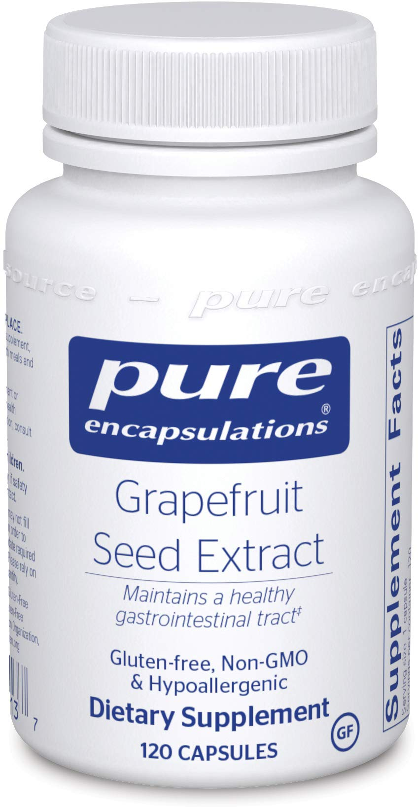 Pure Encapsulations Grapefruit Seed Extract | Supplement to Support The Balance of Intestinal Microorganisms and G.I. Tract* | 120 Capsules