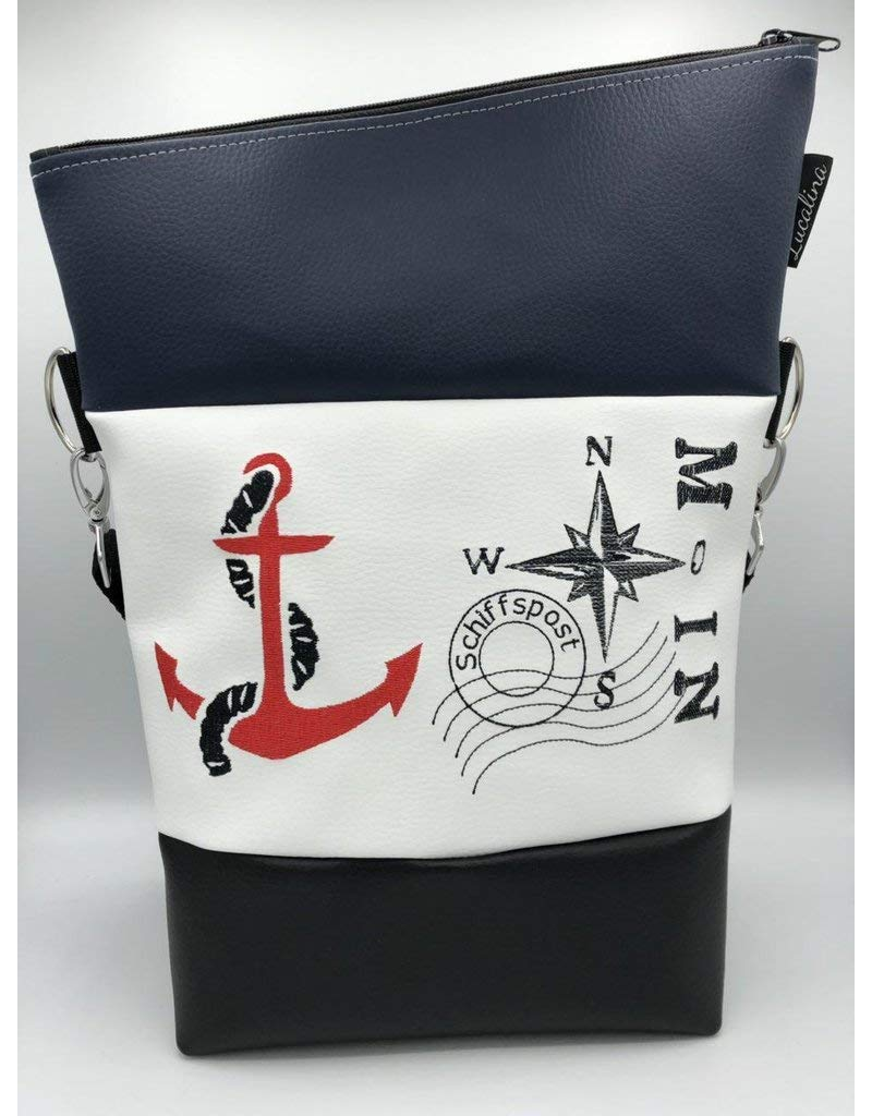 Handtasche Anker Moin Maritim Tasche Foldover Schultertasche