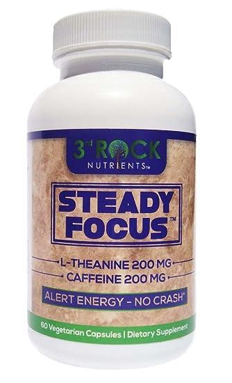 Amazon Com Steady Focus Nootropics 200mg L Theanine 200mg