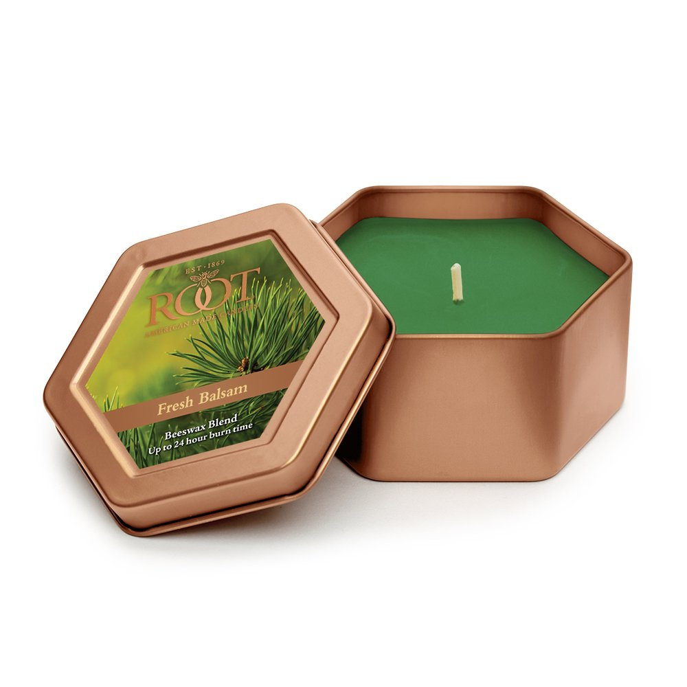 Root Legacy Travel Tin Beeswax Candle, Fresh Balsam by Root (Image #1)