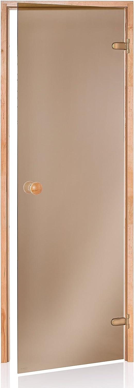 70x190// 70x200 Transparent oder Bronze; Rahmenmaterial 80x190 AD Standard Saunat/üren Abmessungen der /Öffnung 80x200; Glasfarbe 60x190 Espe oder Erle Variation: 80x200, Espe//Klar