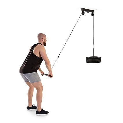 Klarfit Stronghold Tirador Lat • Estación Fitness • Instalación en Techo • Cable de 2 m ...