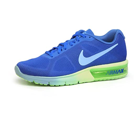 Nike Womens Air Max Sequent Running Shoes - Foutain Blue