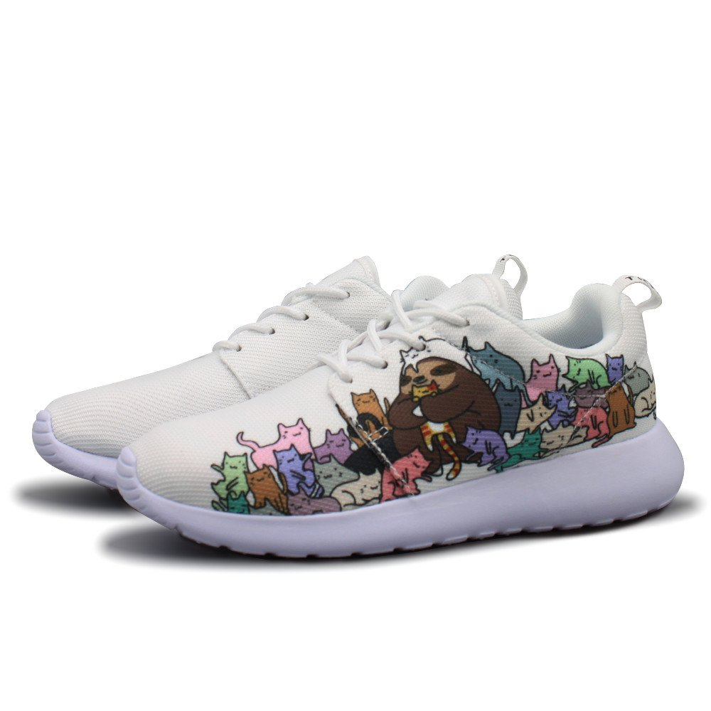 Sloth Loves Cat Lover Women's Lightweight Running Shoes Air Cushion Breathable Sneakers (8 B(M) US)