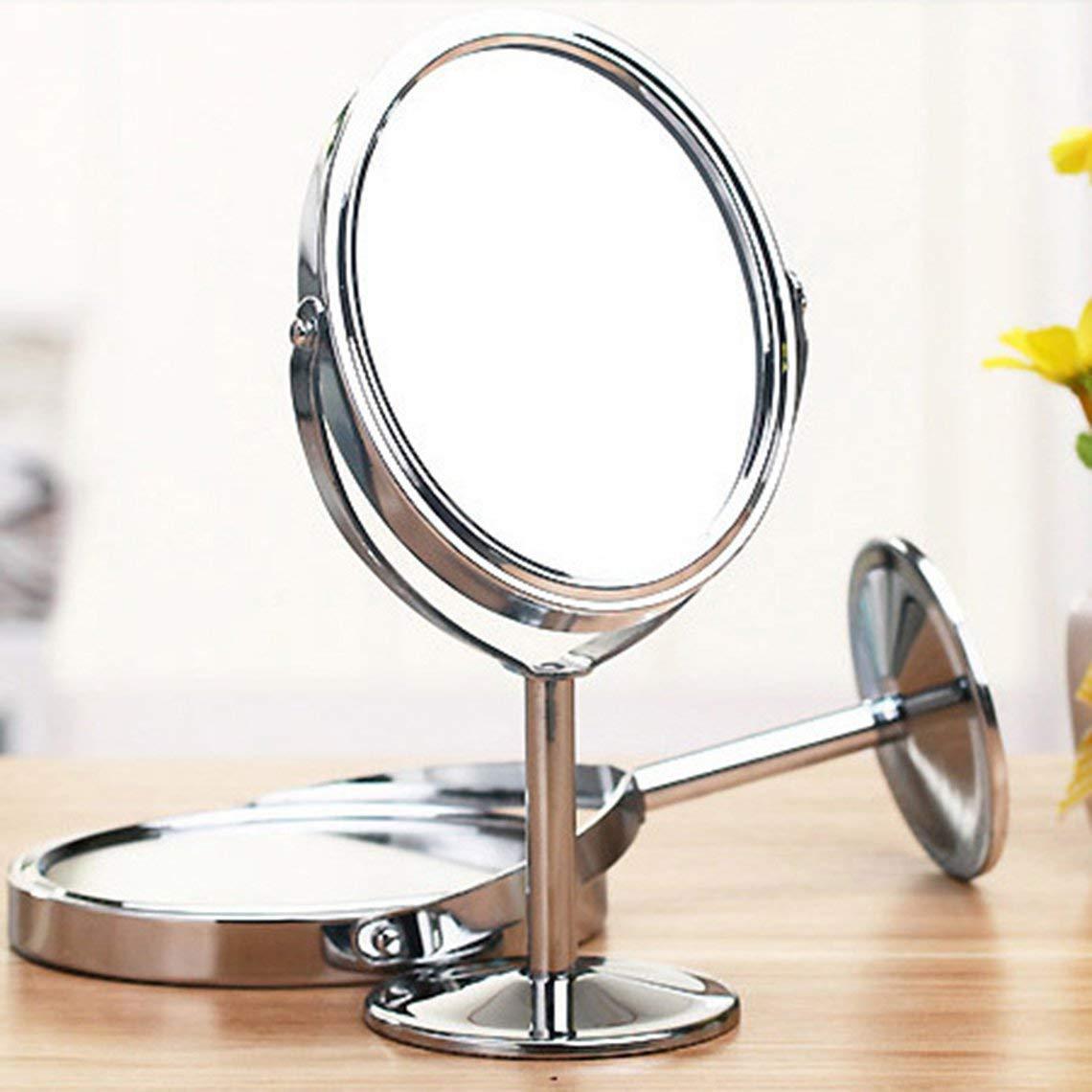 Momorain 828t cor/éen Miroir en m/étal Miroir de Maquillage Dressing Miroir de Bureau Miroir en Rotation 1 2 Fonction de grossissement Miroir de Maquillage
