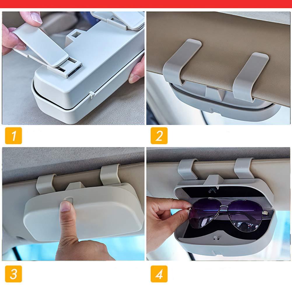 CaCaCook Contenitore per Occhiali da Sole per Auto con Tasche per Parasole e Accessori per Auto
