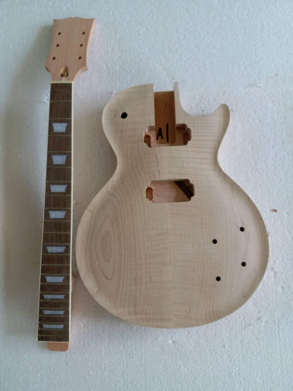 MUSOO プロジェクト エレクトリック ヴィンテージ ライン 58 s ギター キットフレーム メープル トップ (2cm-3cm) ナブ フレット 付   B07GVFL75H