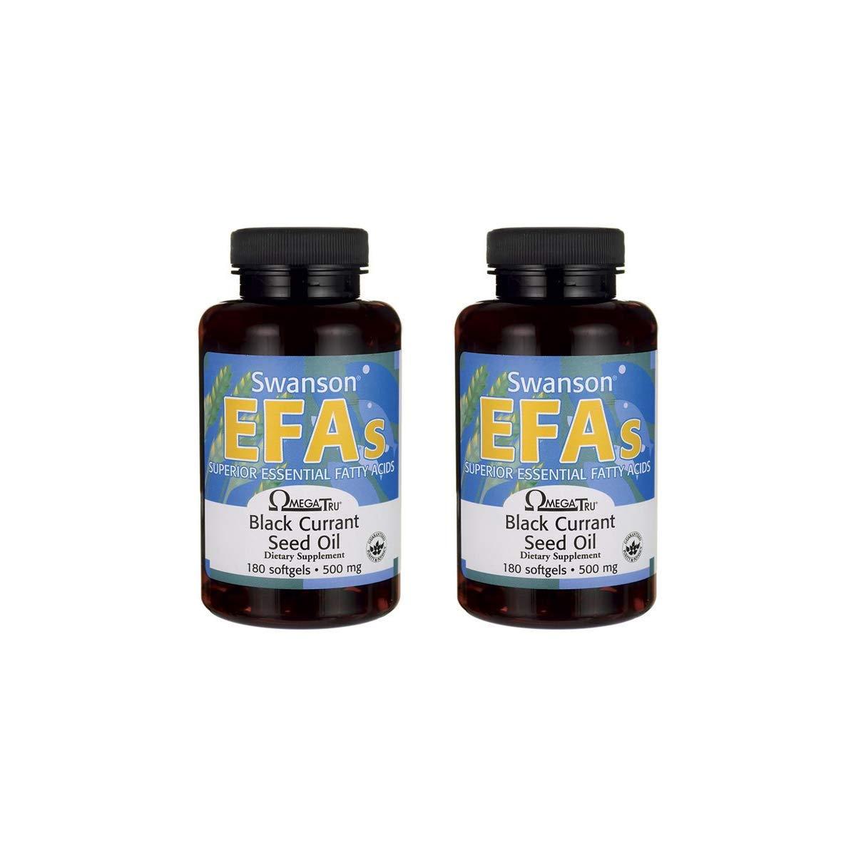 Swanson Black Currant Seed Oil Gla (Omegatru) 500 mg 180 Sgels 2 Pack