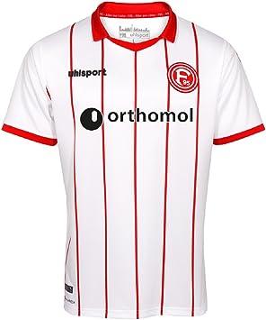Fortuna Düsseldorf Uhlsport F95 - Camiseta de fútbol (temporada 17/18, talla S), color blanco y rojo: Amazon.es: Deportes y aire libre