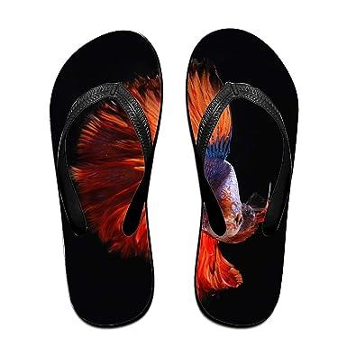 e7db34d2f445 Fair Golden Fish Unisex Flip Flops Sandal for Women Men Classical  Comfortable Slipper