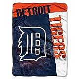 MLB Detroit Tigers Raschel Plush Throw Blanket, Speed Design