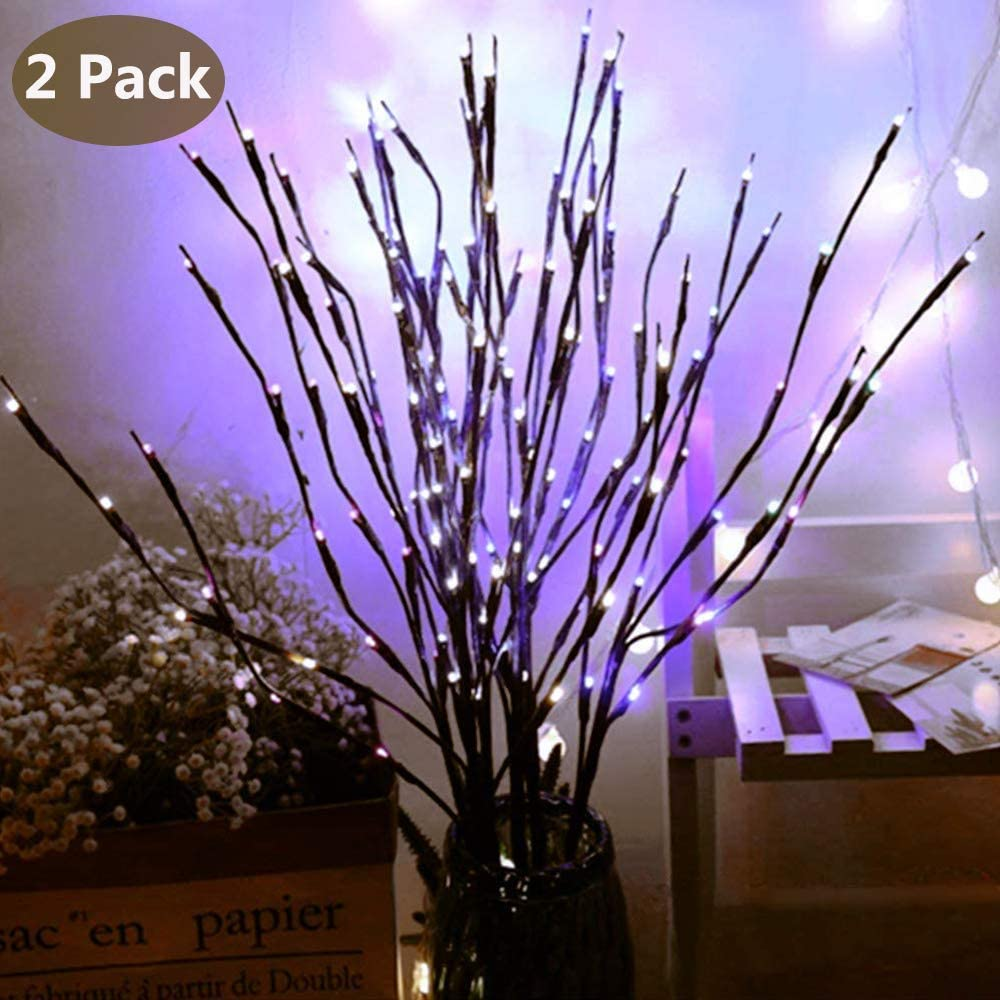 Branch Lights Led Branches Battery Powered Decorative Willow For Home Decoration