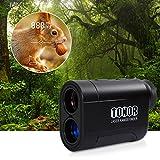 TONOR Golf Laser Rangefinder/Range Finder with Pinsensor/Binoculars, Water Resistant/Free Battery for Hunting Outdoor Activities 980 Yard, Black