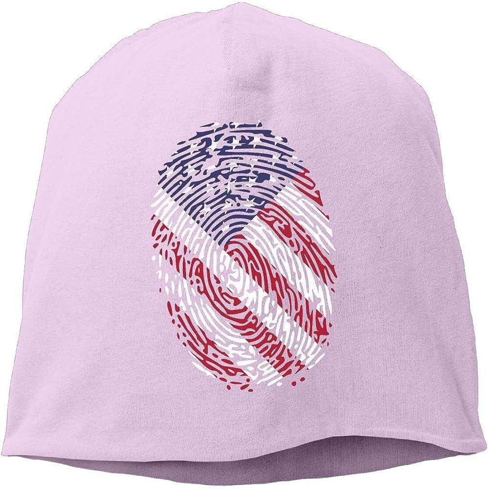 SHA45TM Fingerprint US Flag Men /& Women Winter Helmet Liner Fleece Skull Cap Beanie Hat for Skiing Black