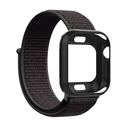 af4f13691644 UooMoo Compatible Apple Watch Band with 40mm/44mm Case, Soft Nylon Sport  Loop Replacement Wristband and Protector Compatible iWatch Apple Watch  Series 4