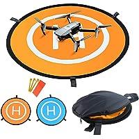 "TEEPAO Drone Landing Pad with Night Lights 75cm/29.53"" Double Using RC Quadcopter Helipad Compatible with DJI Phantom 3/4, Mavic Pro/Mavic Air/DJI Spark, Bebop 2 and FPV Racing Drones"