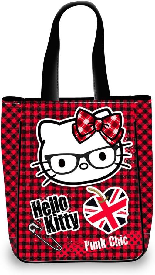 30 cm Morado Karactermania Hello Kitty Vichy Bolso Bandolera
