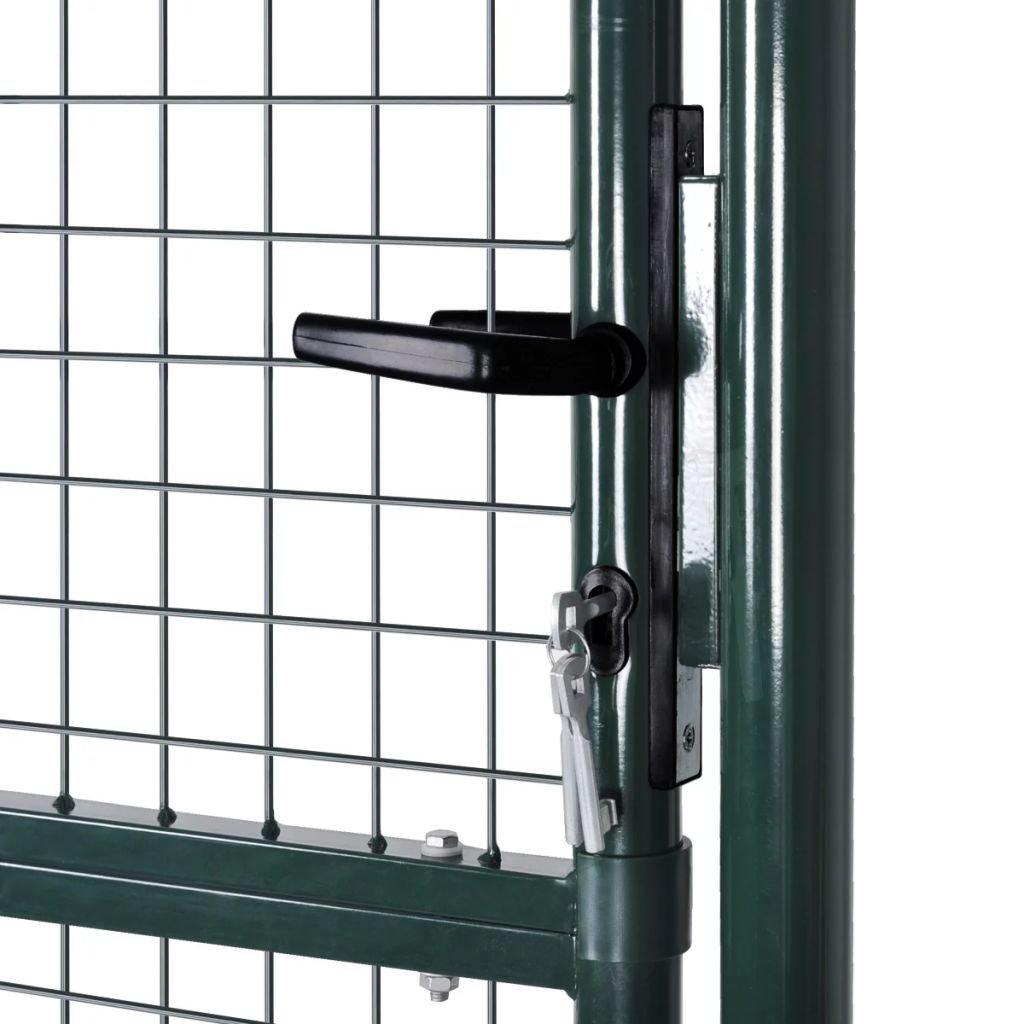 mewmewcat Puerta Met/álica para Jard/ín 100 x 225 cm Verde