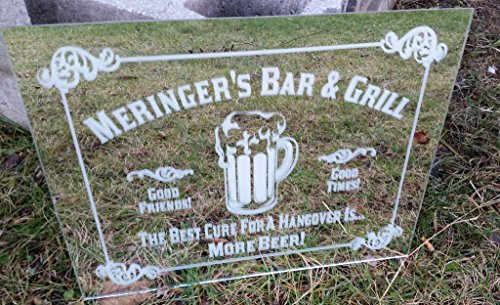 Beer Mug Bar Name Mirror, Personalized Bar Mirror, Custom Personalized Mirror, Etched Bar Mirror, Custom Bar Mirror, Large Mirror, 16x20