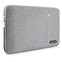 ZinMark Laptop Sleeve for 13 Inch 2017 New MacBook Pro   12.3 Inch Surface Pro 2017 / 3 /4   13.3 Inch Acer/Ausu/Dell/HP/Toshiba/Lenovo Polyester Spill-Resistant Laptop Bag Case Cover, Grey