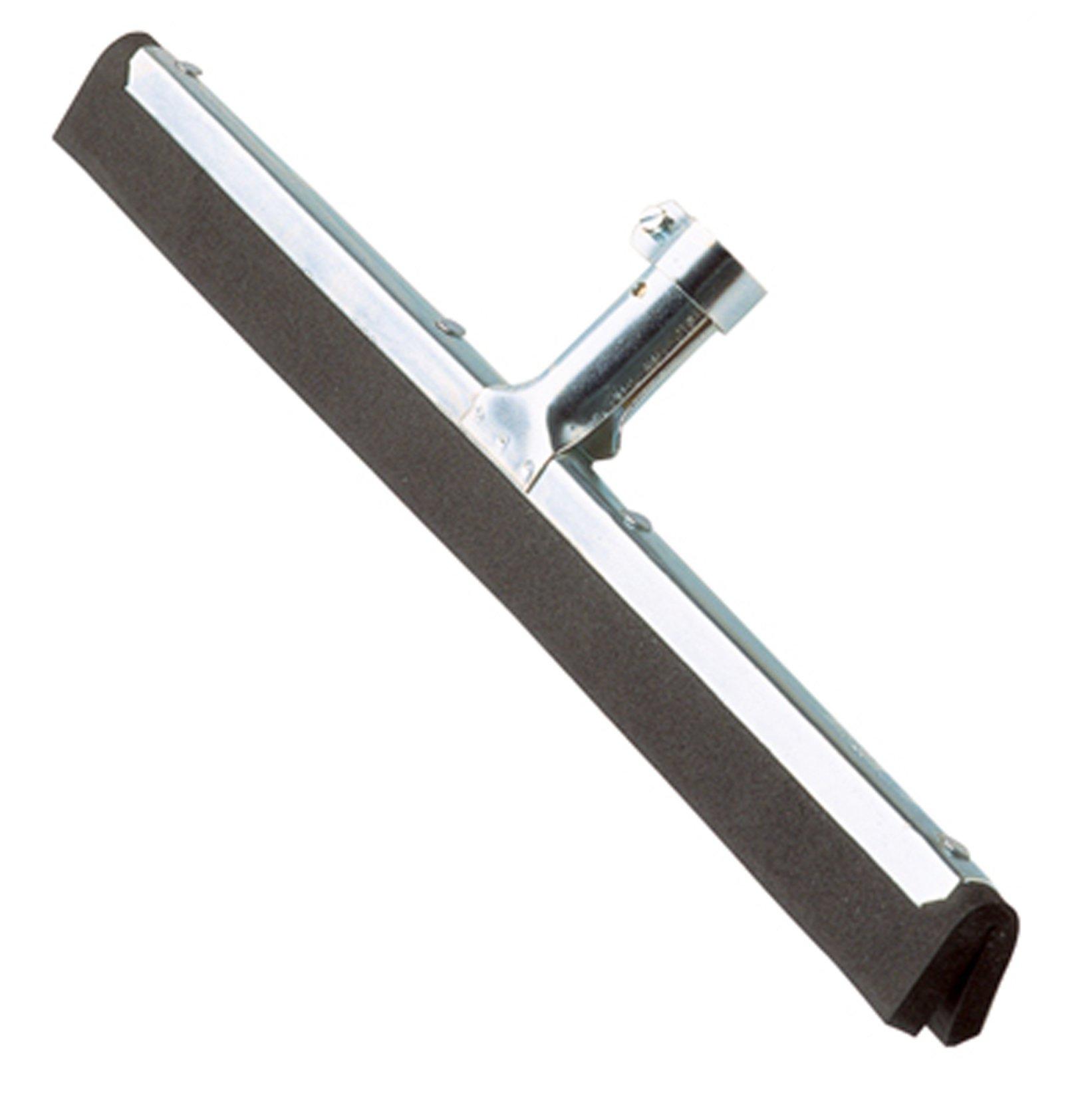 Ettore 1636 Wipe N Dry Floor Squeegee, Black Dual Rubber, 22 Inch Width (Pack of 10)