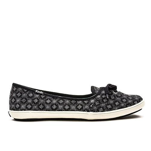 Keds WF54754 - Mocasines de tela para mujer, color Negro, talla 39.5 EU: Amazon.es: Zapatos y complementos