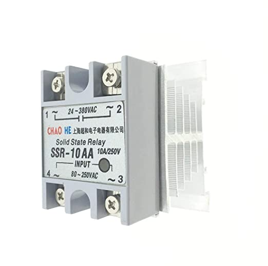 SSR-10AA YXQ SSR-10AA Solid State Relay Small AC Exchange Type Electronic Controller 80-250VAC Input