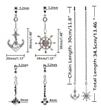 Hyamass 2pcs Vintage Anchor and Wheel Charm Pendant