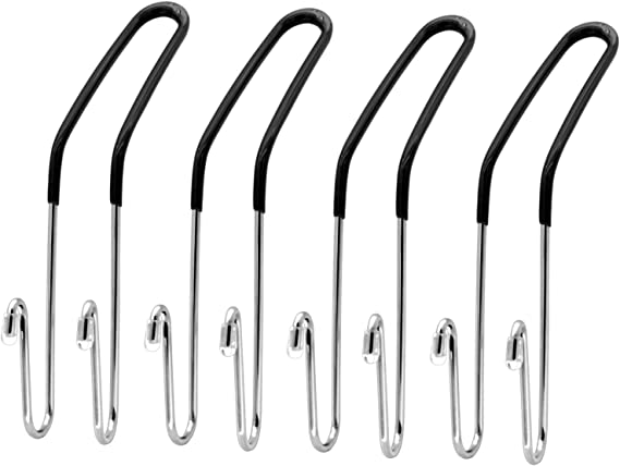Headrest Hooks for Car Hooks Headrest Hangers Purse Hook for Car Hooks-Hanger Purse or Grocery Bags for Automotive Front Back Seat Headrest,4 Pack Phovana Car Purse Hook for Car Headrest Hook Black